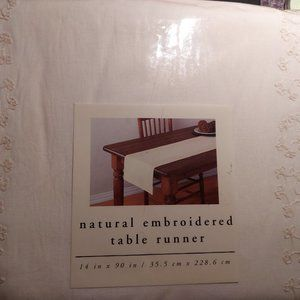 Pier 1 Imports | Natural Embroidered Table Runner